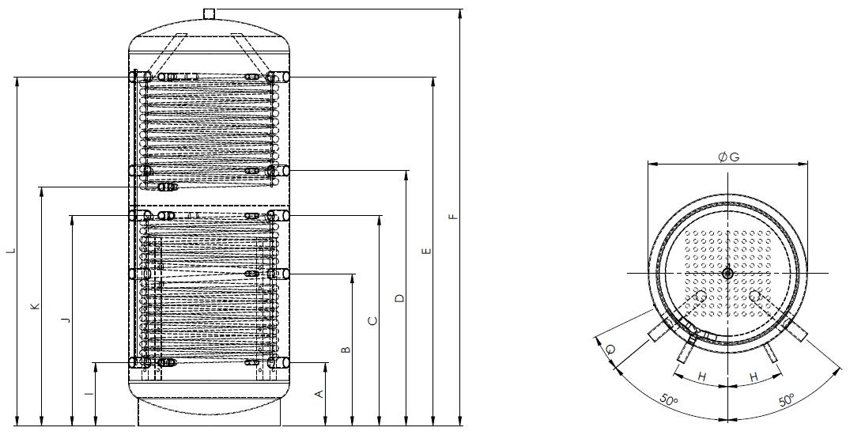 Eco2all-gelaagd-buffervat-met-2-warmtewisselaars-Specificaties