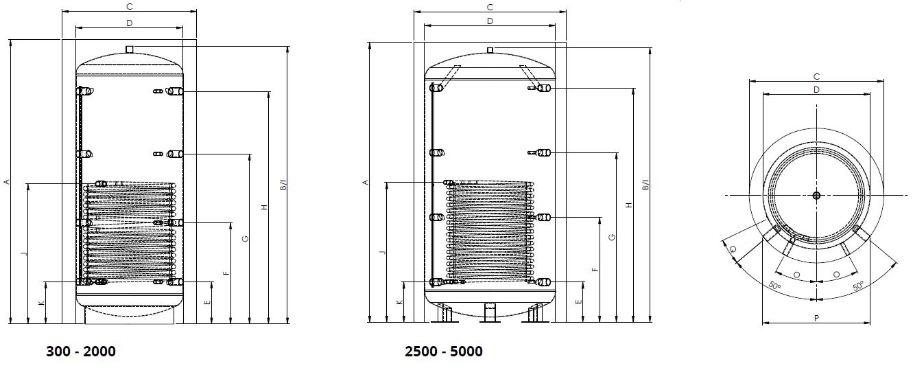 Eco2all-standaard-buffervat-met-1-warmtewisselaar-Specificaties
