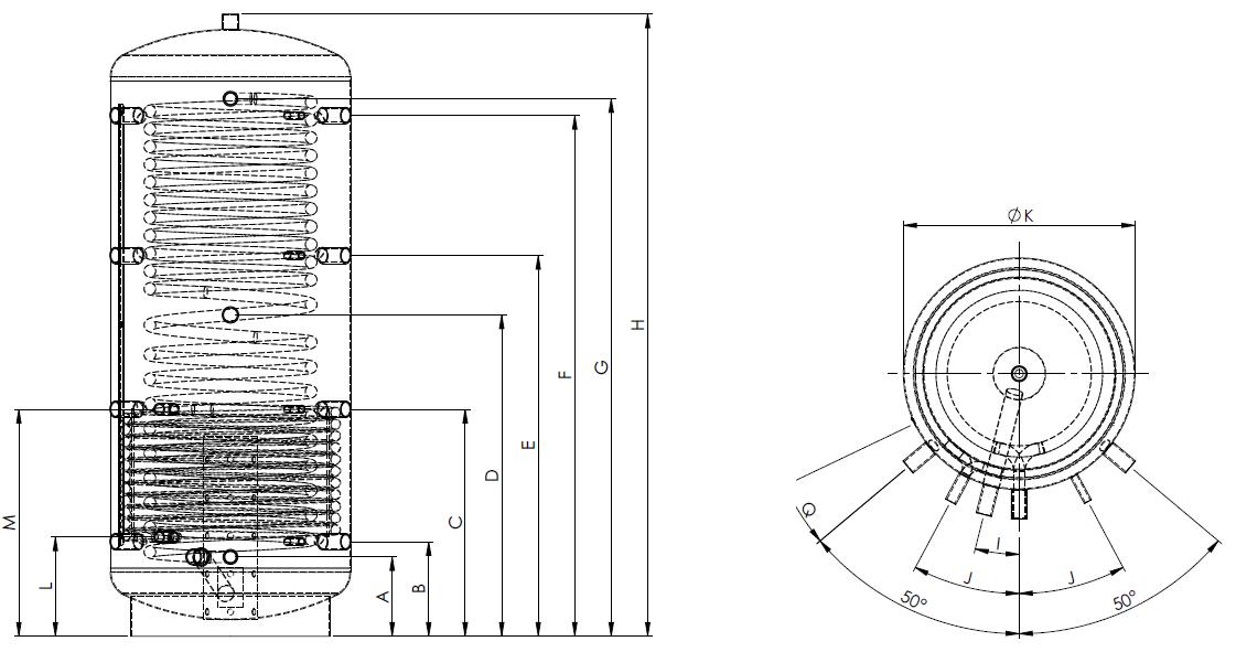Eco2all-sanitair-spiraal-buffervat-met-1-warmtewisselaar-Specificaties