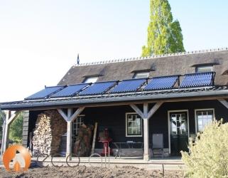 zonneboiler met zonnepanelen